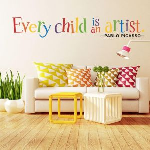 71d2eabc0f277 Every Child Is an Artis Wall Sticker Simple Wind Inspirational English  Quotes Wall Sticker Home Decoration Creative Wall Stickers PVC View Home  Wall Decal ...