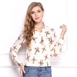 f9ed6ef09b2 Y D Women s Casual Fashion Shirt Plus Size Long Sleeve Turn Down Collar  Striped Pattern Shirt White Color