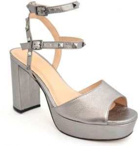 f8466b0c7d3 Chic Shoes Oriental Silver Studded High Heel Sandals for Women