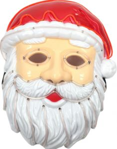 20ecb63c047 Christmas Glowing mask santaclaus christmas mask LED lights mask christmas  party masquerade mask Santa Claus mask fluorescent mask