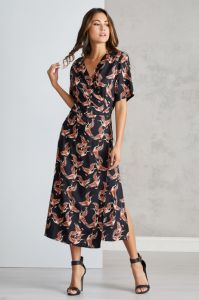 4398ac19d71 Mela London Heron Wrap Midi Dress for Women