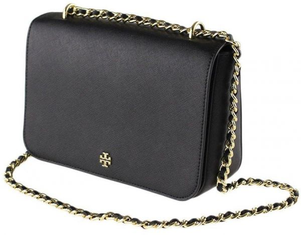 f53654a2011e Tory Burch Women s Emerson Adjustable Shoulder Bag - Black