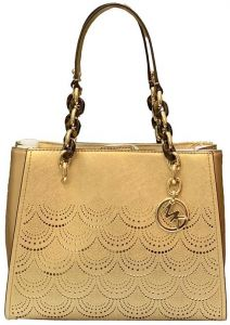0b09f199614ab Michael Kors Sofia Perforated MD NS Handbag For Women - Gold