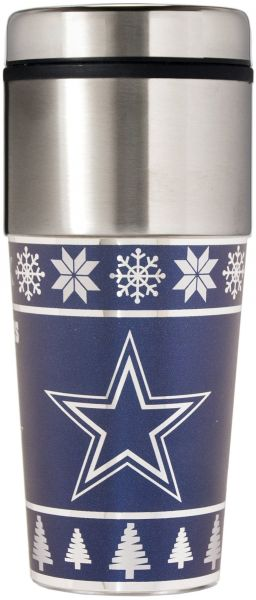 competitive price 1d13f c35f2 NFL Dallas Cowboys Ugly Sweater Travel Tumbler, Blue, One ...
