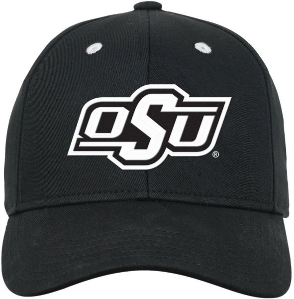 a6da0c8f806 NCAA Oklahoma State Cowboys Youth Boys Black   White Structured Adjustable  Hat