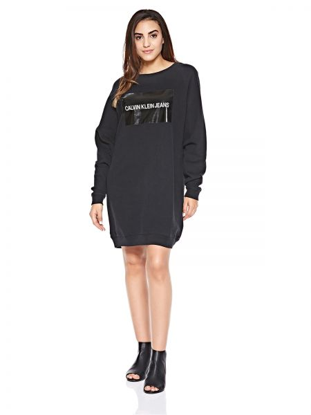d2ecf11606e Calvin Klein Jeans Institutional Box Logo Sweatshirt Dress for Women ...