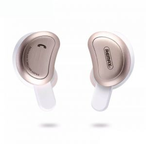 Remax Bluetooth earphones Gold wireless 3D stereo headphones headset and power bank with microphone handsfree calls TWS-1