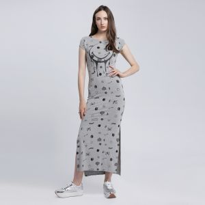 Smiley World A Line Dress for Women , Grey