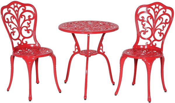 Meadow Decor Bistro Table And Chair Set Red Daisy Souq Uae