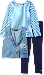 6cd6ebcf4c7c9 Limited Too Toddler Girls' Knit Top, Vest and Legging Set (More Styles  Available), Medium Blue Denim, 2T