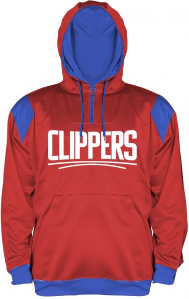 8a2ed8ee137 NBA Los Angeles Clippers Men s Big   Tall 1 4 Zip Synthetic Pullover Hoodie