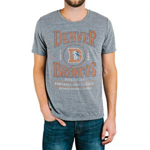 Junk Food NFL Denver Broncos Men s GameDay Short Sleeve Tri-blend Tee 6fde8b9fb