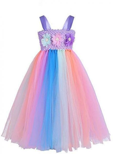 df70e4c6f6be 3-10 Y Kids Unicorn Tulle Dress for Girls Embroidery Ball Gown Baby Flower  Girl Princess Dresses Wedding Party Costumes