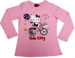 Hello Kitty Girls Pink Long Sleeve T Shirt MCCCV C