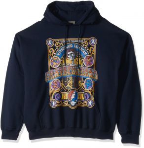90f508b73 سائل أزرق رجالي مقاس إضافي Grateful Dead إغلاق من winterland صالة بلوفر  بقلنسوة - Grateful Dead Closing of Winterland Ballroom Pullover Hooded  Sweatshirt ...