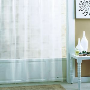 Ex Cell PEVA Eco Friendly Shower Curtain Liner 70 By 71 Inch Frosty