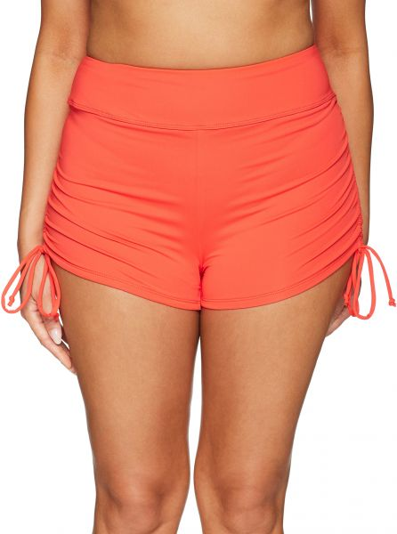 7f97fec59db BEACH HOUSE WOMAN Women s Plus Size Beach Solids Swim Short With Adjustable  Sides Swimwear