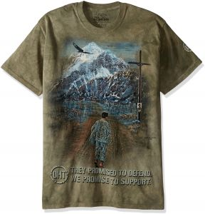 1f108c22ee490 The Mountain للرجال Hero مجموعة Hero الإرجاع تي شيرت - Hero Returns T-shirt  XXXX-Large Brown