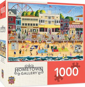 e8c25c5e0ac MasterPieces Hometown Gallery On the Boardwalk - Beach 1000 Piece Jigsaw  Puzzle by Art Poulin