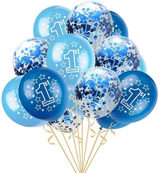 12 Inch 1 Year Old Balloon Confetti Set Combination Baby Birthday