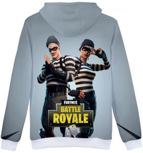 71ca7a319ad9c fortnite Battle Royale 3D Print Sweatshirt And Hoodies For Women Men  Fashion Streetwear Round Neck With Cap Unisex-Grey
