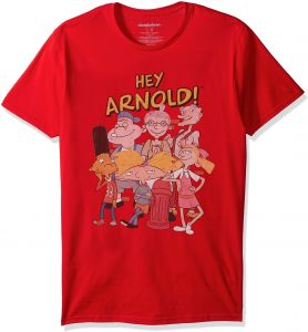 740ac715 Nickelodeon Men's Hey Arnold Short Sleeve Graphic T-Shirt, Red, 2X-Large