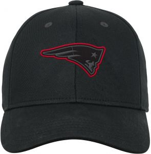 NFL by Outerstuff NFL New England Patriots Youth Boys B W Structured  Adjustable Hat Dark Navy f64a8f86b