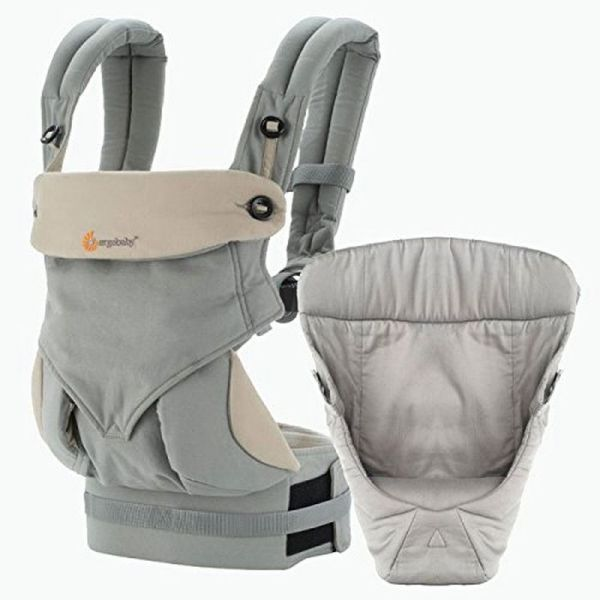 3edb4dc7dfc Ergobaby Bundle- 2 Items  Grey All Carry Position Award Winning 360 Baby  Carrier and Easy Snug Infant Insert
