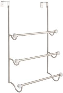 Interdesign York Over The Shower Door 3 Bar Towel Rack Satin