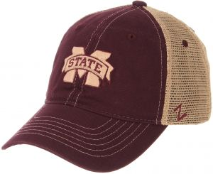 10e71884bd8369 Zephyr NCAA Mississippi State Bulldogs Men's Institution Relaxed Cap,  Adjustable, Maroon
