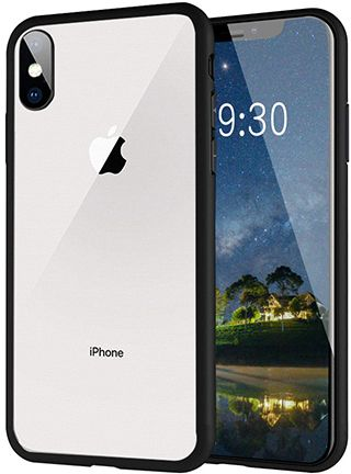 best website 7ece8 bdba5 Apple iPhone XS max case Clear, Meidom Tempered Glass Scratchproof Cover  and Soft Silicone Bumper Shock Absorption Cover for iPhone XS MAX - Black
