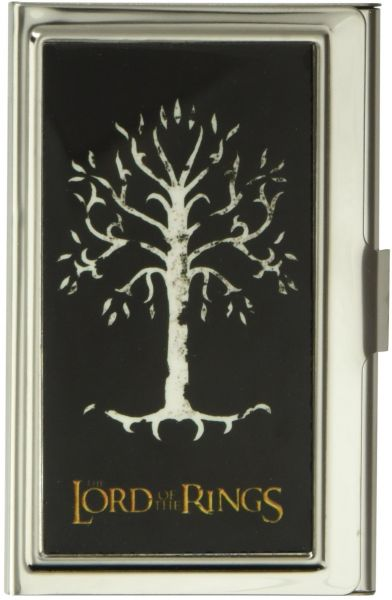 b58c9094ba0 Buckle-Down Business Card Holder - THE LORD OF THE RINGS White Tree of Gondor  Black White Gold - Small