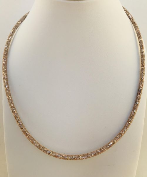 925bbb21d1e0 Gold color Stardust necklace filled with million Swarovski crystals ...