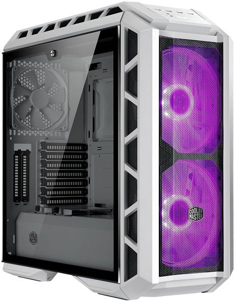 Cooler Master MasterCase H500P Mesh White ATX Mid-Tower Case with 2 x 200mm RGB Fans Tempered Glass Side Panel Cases