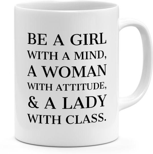 be a girl with a mind