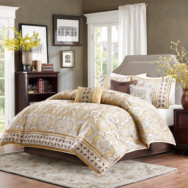 Image result for Brocade fabric GOLD X BLUE BED