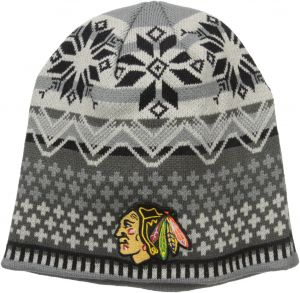 brand new 65d8e f67c6 Zephyr NHL Chicago Blackhawks Men s Oslo Knit Beanie, One Size, Black Gray