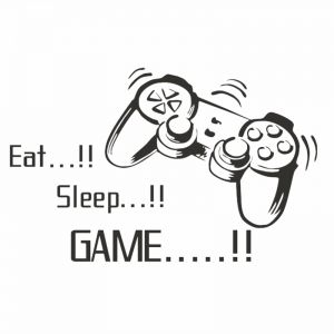 Gamers World Eat Sleep Game Quotes Wall Stickers For Net Bar Living Room Bedroom Removable Kids And Boys Room Wall Decals Decoration