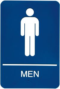 b32bccb8782e Headline Sign 5209 ADA Men s Restroom Sign with Tactile Graphic