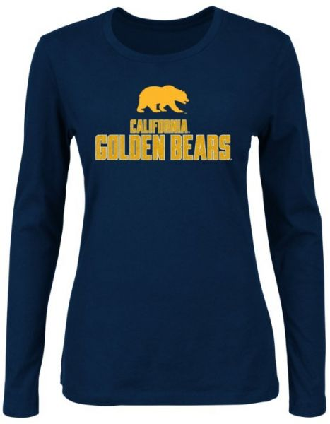 80df405d26bf1 NCAA California Golden Bears Women s Momentous Long Sleeve Crew Neck T-Shirt  with Neck Tape