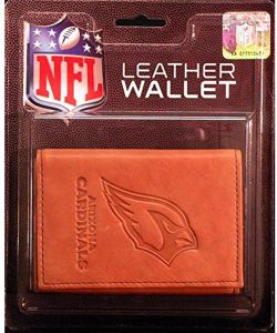 d76a8ebdb Rico NFL Arizona Cardinals Embossed Leather Trifold Wallet