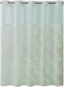 Hookless RBH40MY027 Spring Leaves Shower Curtain With Peva Liner