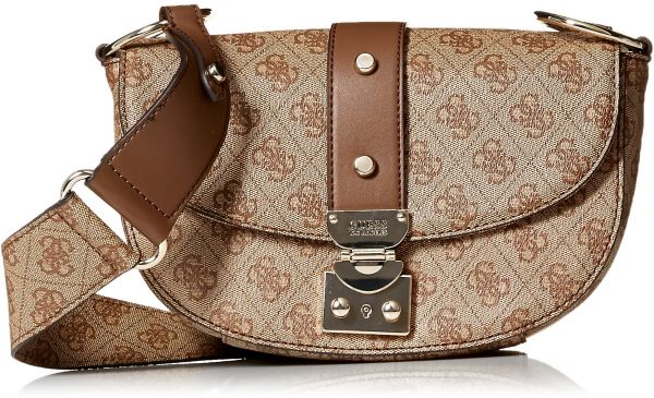 Guess Florence Shoulder Bag Bro Brown