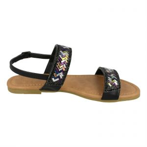 a92f4908fbb Kidderminster Anne Michelle Flat Sandals for Women - Black