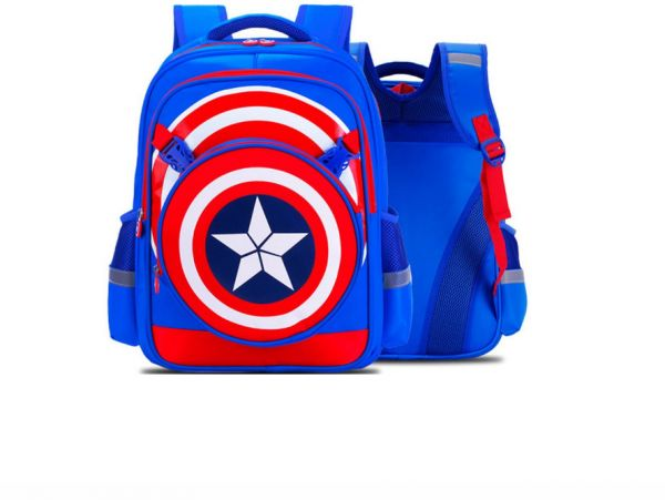 37a78fdc76b2 Captain America Shield School Bag for 8- 15 Ages Kids Children Student Backpack  school Bag