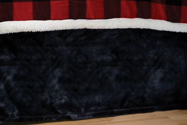 Carstens Lumberjack Plaid Plush Black Bed Skirt Queen Souq Uae