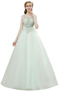 e1b78d69dba SSYFashion Luxury Light Green A-line Prom Dress High-end Beading Wedding Party  Evening Gown