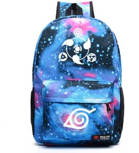 b5ff25e4fa Anime Naruto Write Round Eyes School Students Schoolbag BackpackMen Women Shoulder  Bag Korean Couple Cartoon Casual Oxford Rucksacks Starry sky Pattern