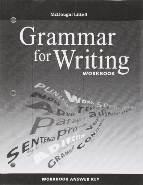 McDougal Littell Literature: Grammar for Writing Workbook