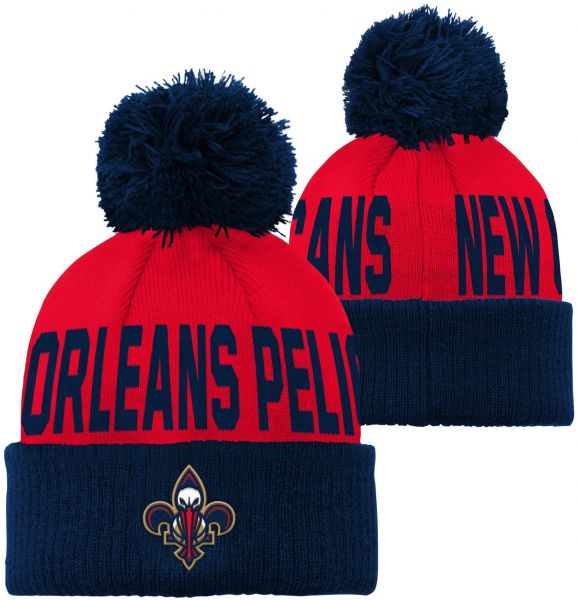 d6fef641 ... amazon outerstuff nba new orleans pelicans children boys cuffed knit  with pom hat 1 size red